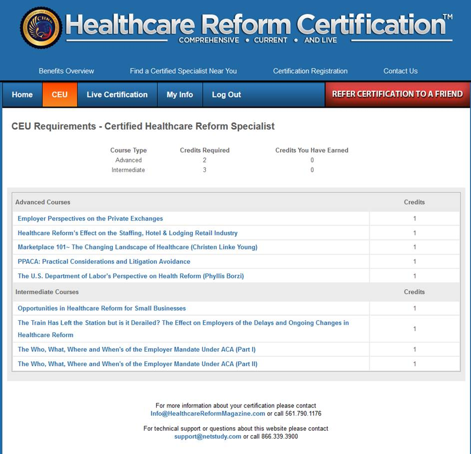 Continuing education healthcare reform certification here is a screen shot of what you will see when you log in 1betcityfo Image collections